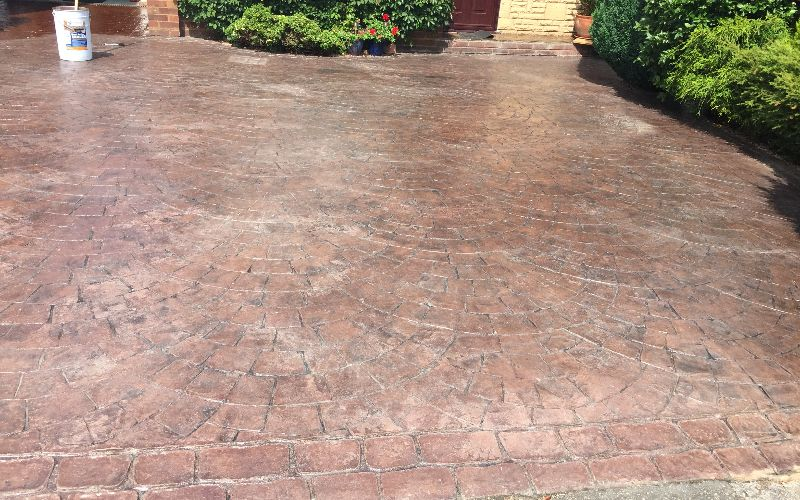 Imprinted Concrete Cleaning & Sealing Worcester, Worcestershire